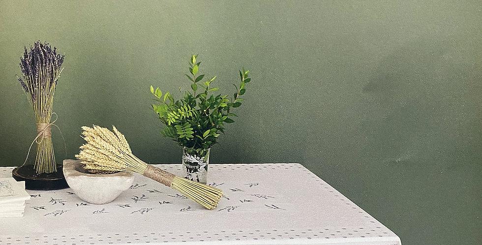French Tablecloth Jacquard Tapestry Ecru/Lavender Castillon