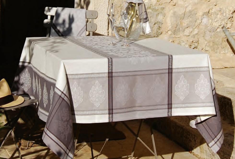Grey Caprice Jacquard Woven Tablecloths