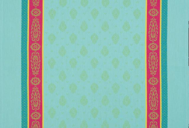 Turquoise Vaucluse Jacquard Woven Kitchen Towel