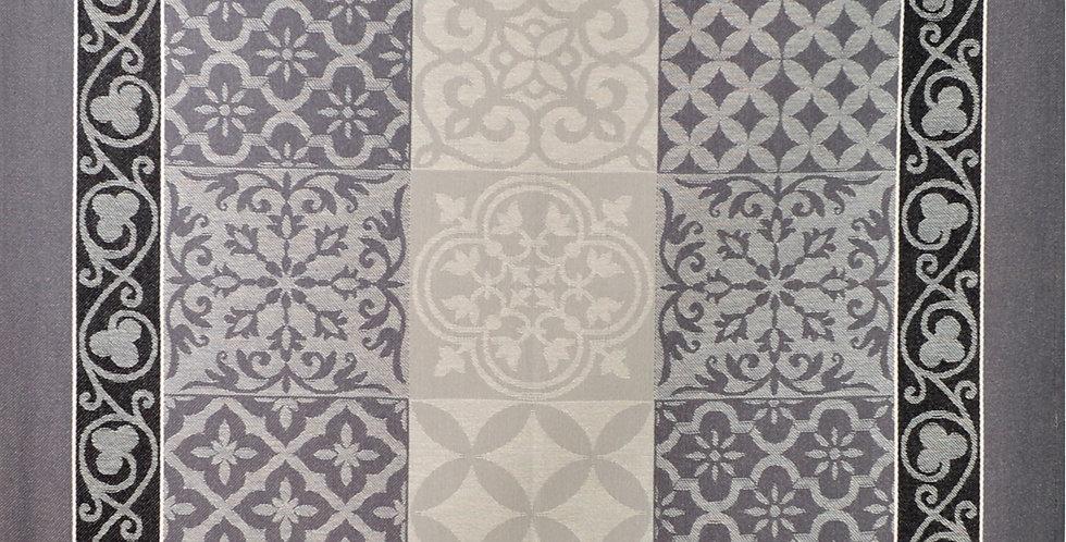 Grey Reillanne Jacquard Woven Kitchen Towel