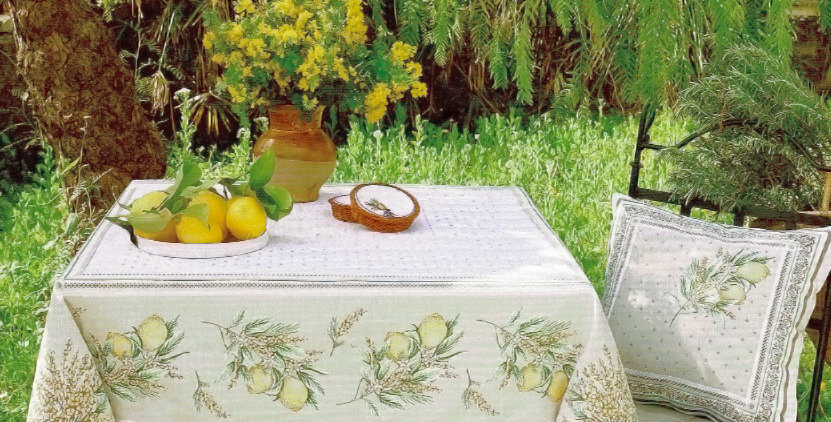 Menton Jacquard Tapestry Tablecloth