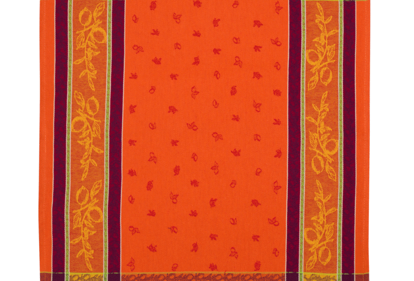 Orange Citronnier Jacquard Woven Kitchen Towel