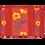 Thumbnail: Orange Poppy & Lavender Coated Cotton Placemat