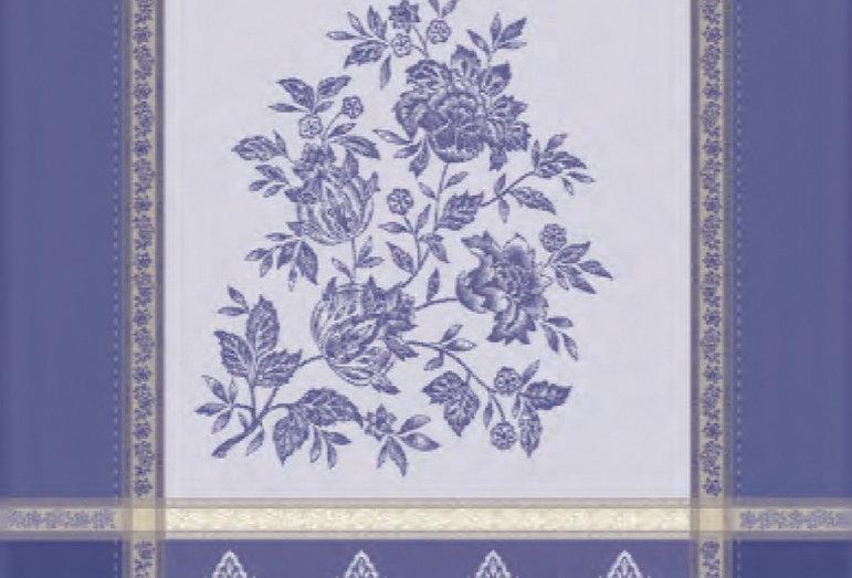 Blue Caprice Jacquard Woven Kitchen Towel