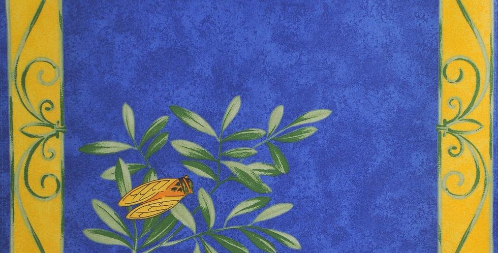 French Napkin Cotton Blue Cigale