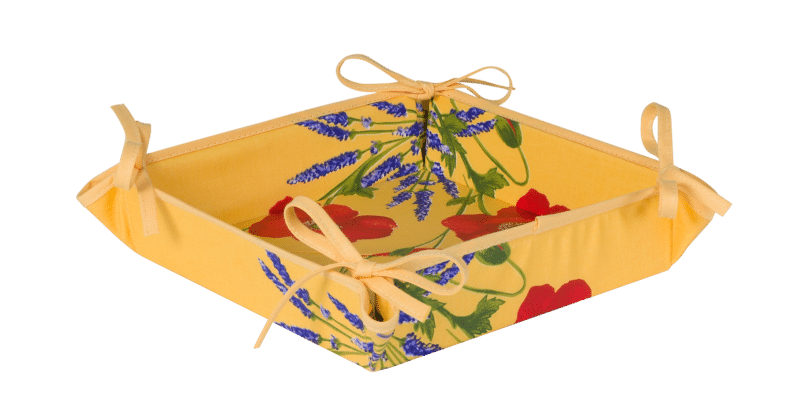 Yellow Poppy & Lavender Basket