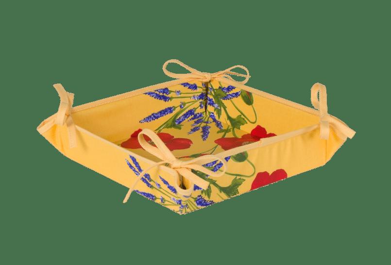 Yellow Poppy & Lavender Basket