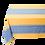 Thumbnail: Blue/Yellow Grignan Jacquard Woven Tablecloths