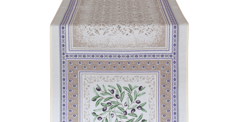 French Table Runner Jacquard Tapestry Luberon