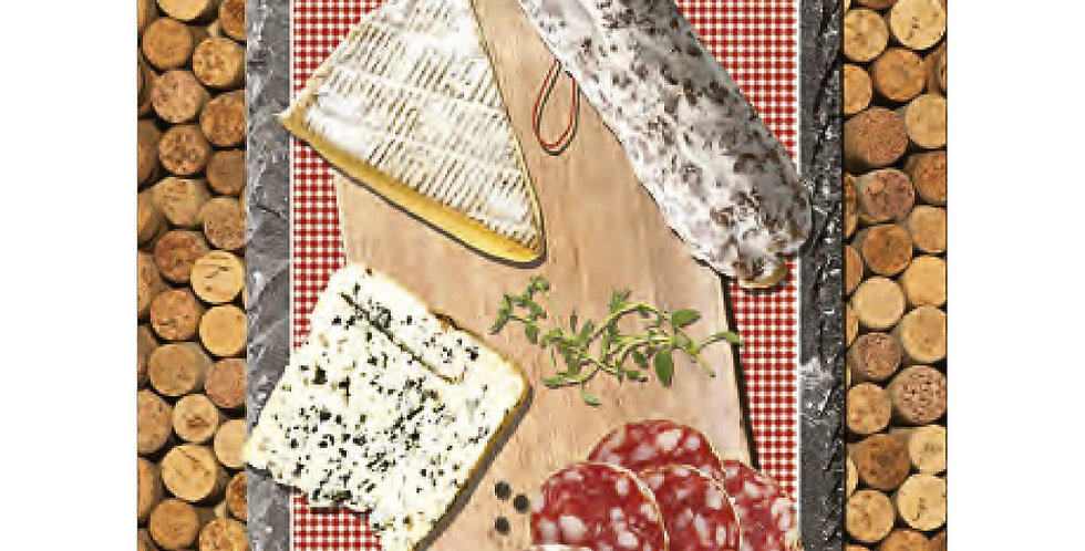 French Kitchen Towel Apero Charcuterie