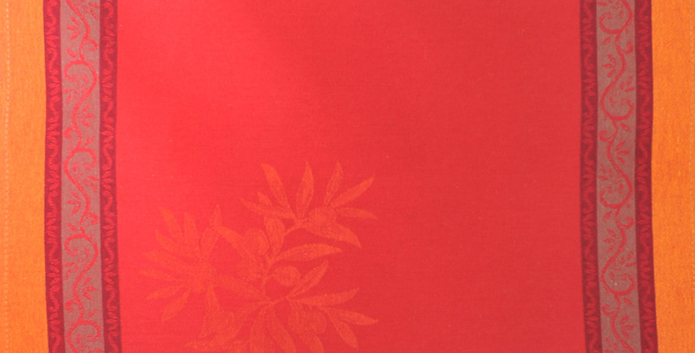 Red Olive Jacquard Woven Napkin