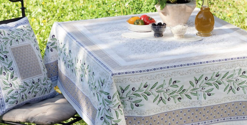French Tablecloth Jacquard Tapestry Luberon