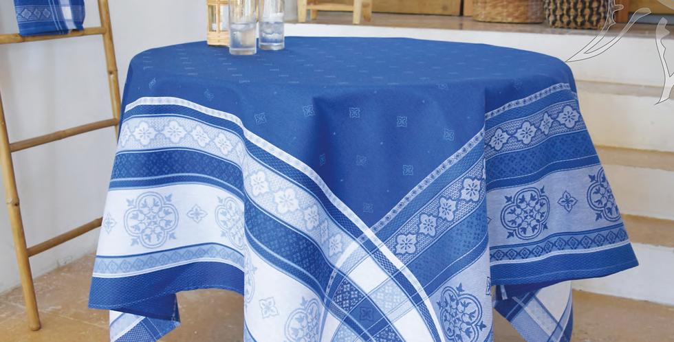 Blue Callas Jacquard Woven Tablecloths