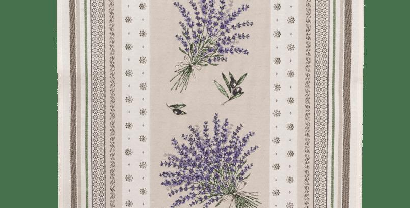 Ecru/Lavender Castillon Jacquard Tapestry Table Runner