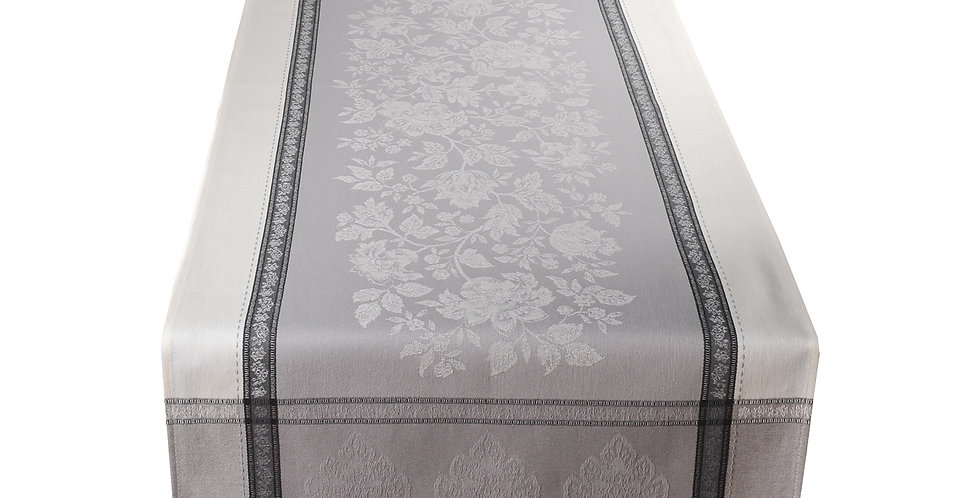Grey Caprice Jacquard Woven Table Runner