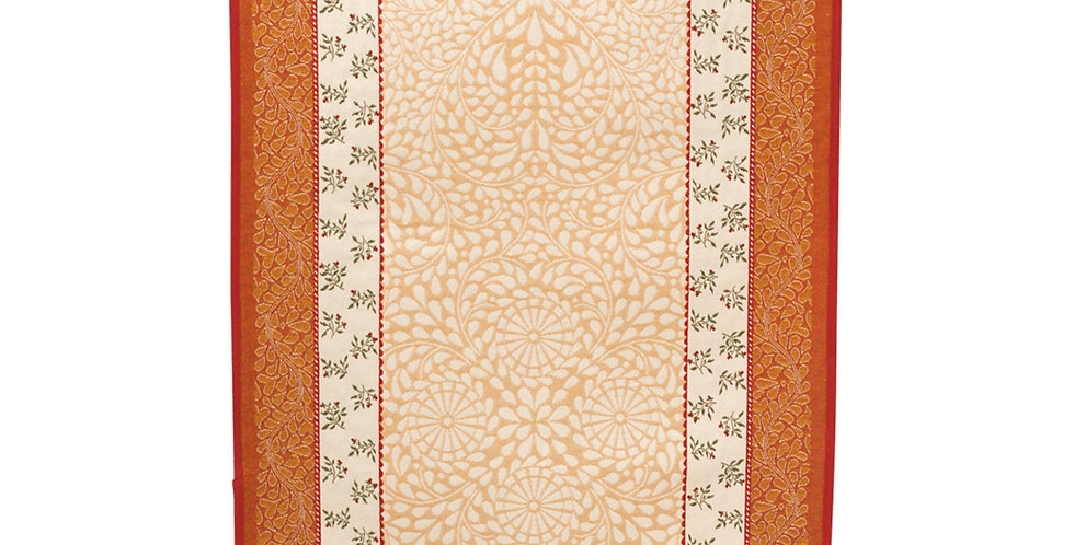 Ecru/Orange Aubrac Jacquard Tapestry Table Runner