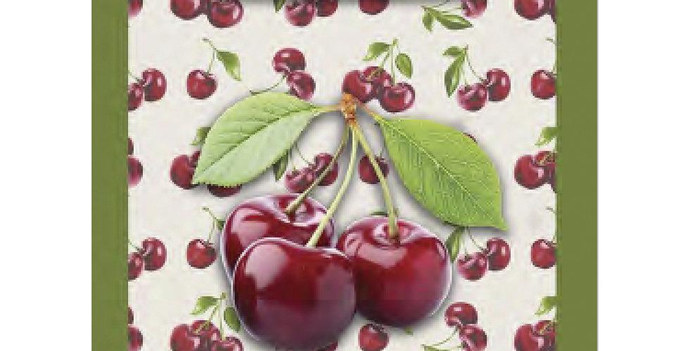 Cherries Printed Cotton Kitchen Towel