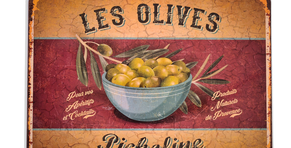 Picholine Olives Laminated Placemat