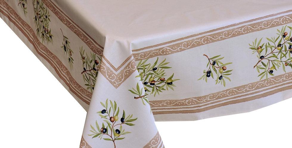 Ecru Clos Des Oliviers Center Design Coated Tablecloths