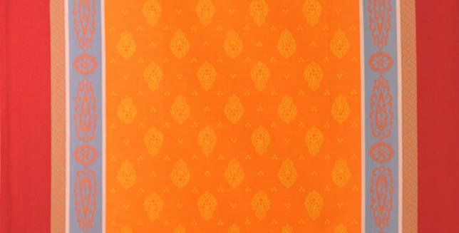 Orange/Red Vaucluse Jacquard Woven Kitchen Towel