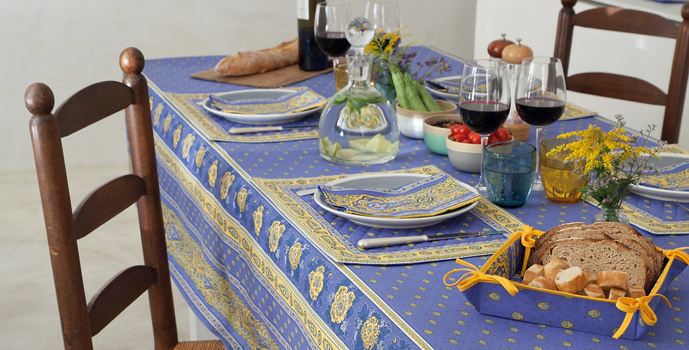 French Tablecloth Coated Lavender Bastide