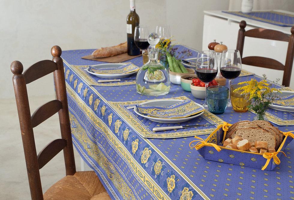 Lavender Bastide Coated Cotton Tablecloths