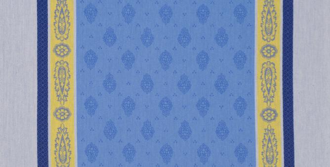 Blue/Yellow Vaucluse Jacquard Woven Napkin