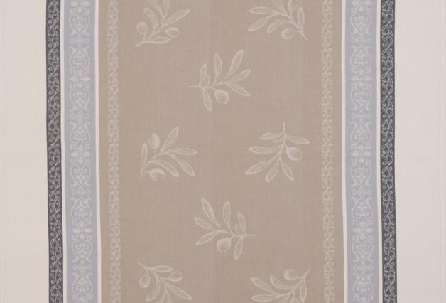 Beige Olivia Jacquard Woven Kitchen Towel