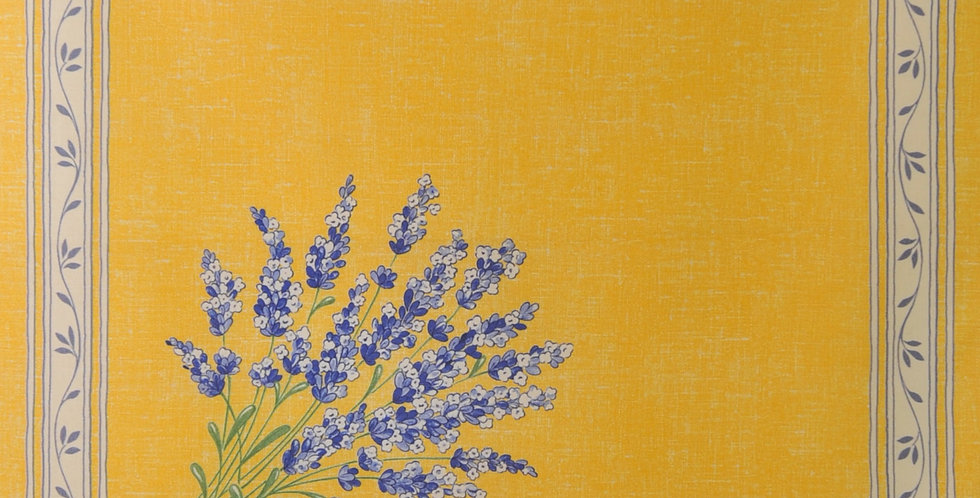 Yellow Valensole Printed Cotton Napkin