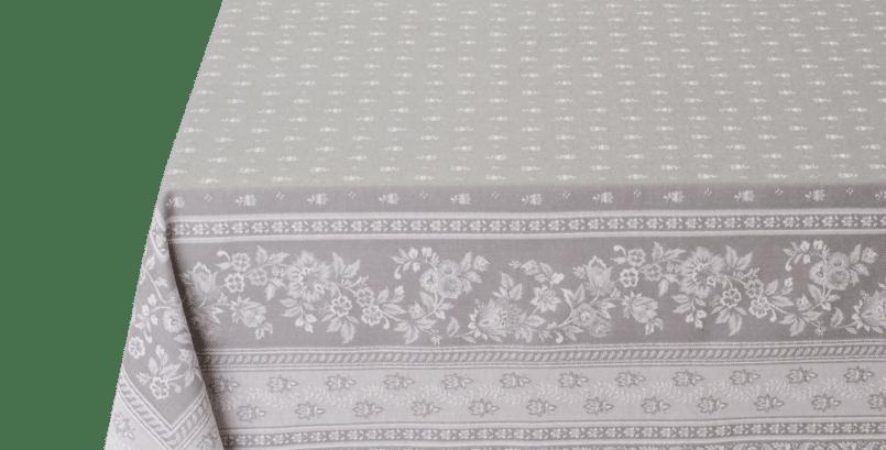 Dark Grey Durance Jacquard Woven Tablecloth