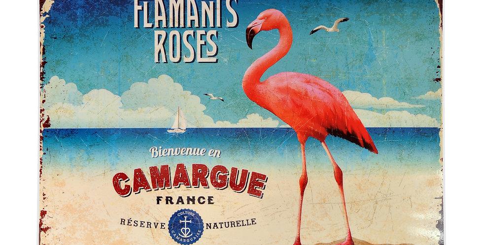 Flamingo at the Beach Laminated Placemat