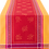 Thumbnail: Red/Yellow Olivia Jacquard Woven Table Runner