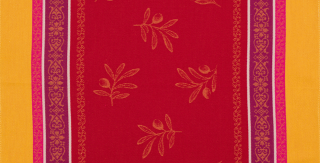 Red/Yellow Olivia Jacquard Woven Kitchen Towel