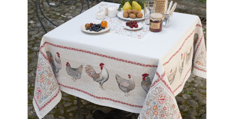 Lafayette Jacquard Tapestry Tablecloth