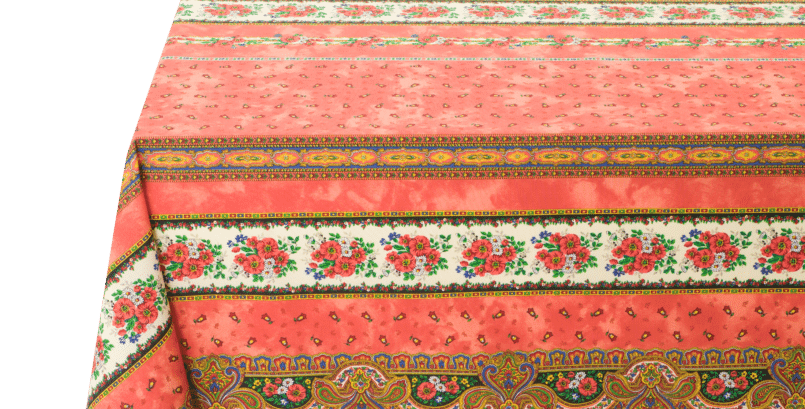 Orange Tradition Coated Cotton Tablecloths