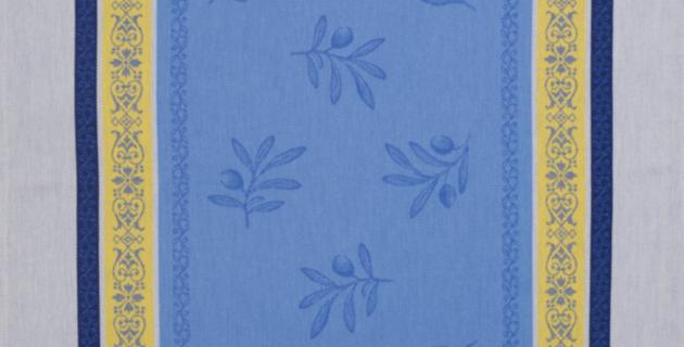 Blue/Yellow Olivia Jacquard Woven Kitchen Towel