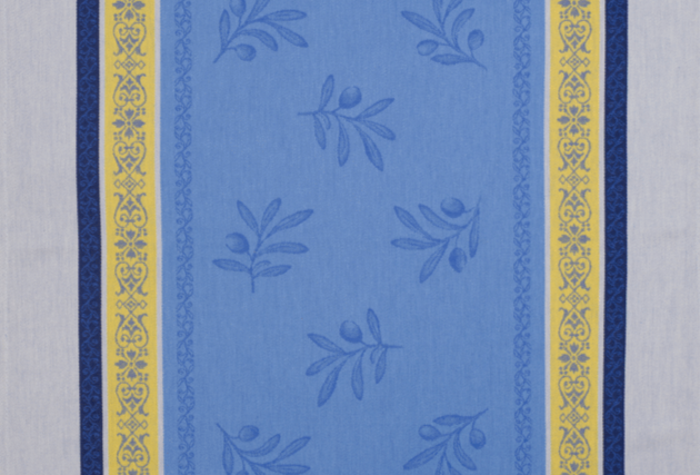 Blue/Yellow Olivia Jacquard Woven Kitchen Towel