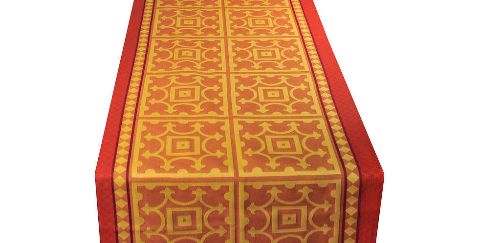 Yellow/Red Marius Jacquard Woven Table Runner