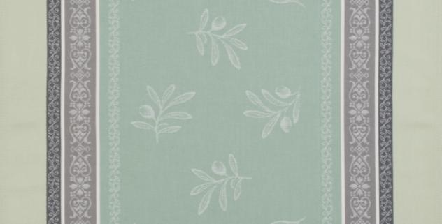 Green Olivia Jacquard Woven Kitchen Towel