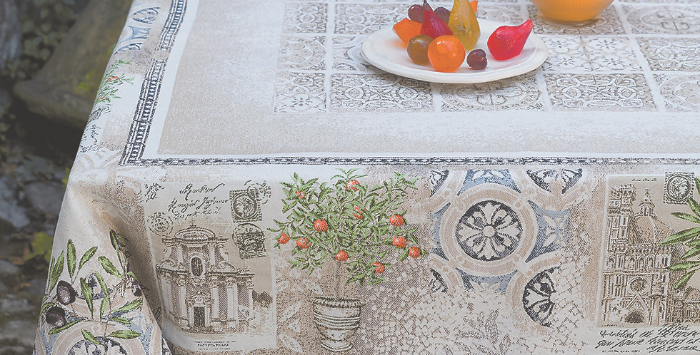 Riviera Jacquard Tapestry Tablecloth