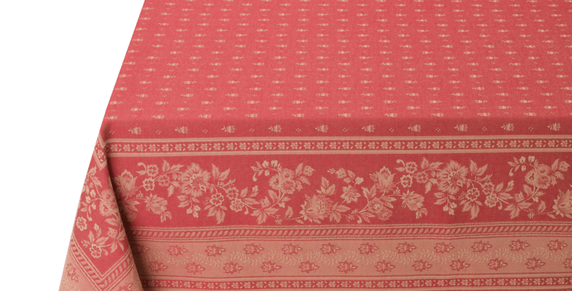 Red Durance Jacquard Woven Tablecloth
