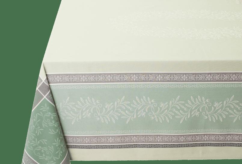 Green Olivia Jacquard Woven Tablecloths