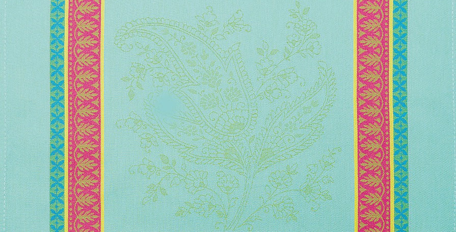 Turquoise Cassis Jacquard Woven Napkin