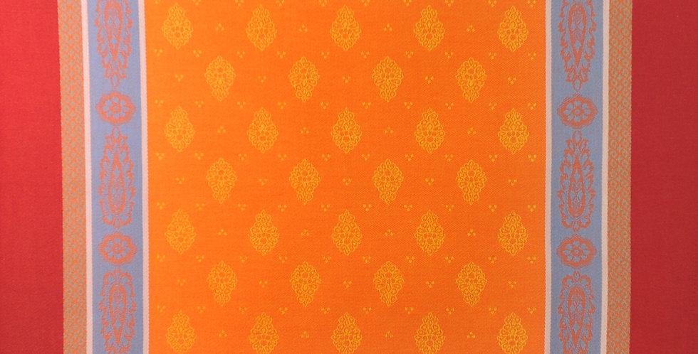 French Napkin Jacquard Orange/Red Vaucluse