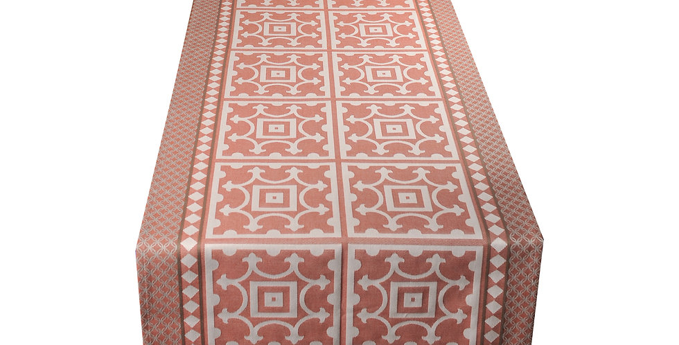 Red Marius Jacquard Woven Table Runner