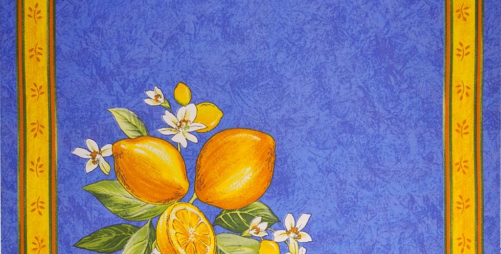 Blue Citron Printed Cotton Napkin