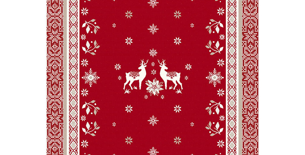 French Kitchen Towel Cotton Red Vallée