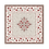 Thumbnail: Taupe/Red Aubrac Jacquard Tapestry Tablecloth