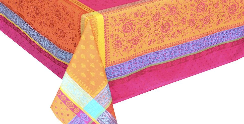 Fuchsia Massilia Jacquard Woven Tablecloths