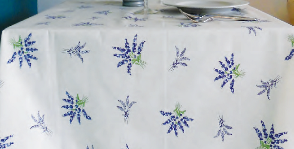 Ecru Valensole All Over Coated Cotton Tablecloths
